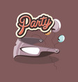 party mask decoration balloons celebration retro vector image vector image