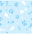 pattern for pets kitty vector image vector image