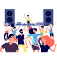 people on dance floor dancing people young vector image vector image