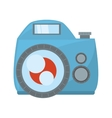 photo camera flash picture beach vector image vector image