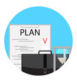 planning and time management icon vector image vector image