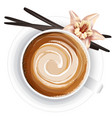 realistic of coffee cup on vector image vector image
