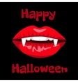 red lips of vampire vector image vector image