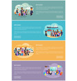 refugee families that try to move in other country vector image vector image