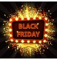 Retro banner with glowing lamps for Black friday vector image vector image