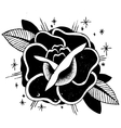 Roses Tattoo Sketch vector image