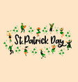 saint patricks day with funny vector image