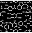 Seamless background with chemistry elements vector image