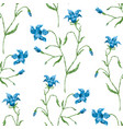 seamless pattern of delicate bluebells vector image vector image