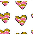 seamless pattern with colorful hearts for vector image vector image