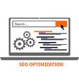 seo optimization vector image vector image