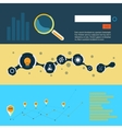 Set of flat design concepts for web and printing vector image vector image