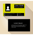 simple black and yellow block business card design vector image vector image