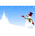snowman greeting vector image vector image