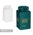 square matte ceramic jar mockup realistic vector image vector image
