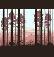 sunny forest background of vector image vector image