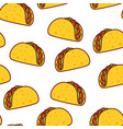tacos seamless pattern mexican food vector image vector image