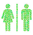 toilet persons mosaic of circles vector image