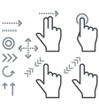 Touch screen gesture hand signs icons vector image vector image
