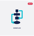 two color workflow icon from creative pocess vector image vector image