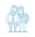 two happy gay cuddles vector image