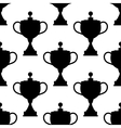 Vintage trophy cups seamless pattern vector image