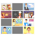 vloggers flat set vector image vector image