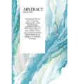watercolor blue paiting marble resin acrylic vector image vector image