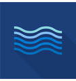 wave in sea icon flat style vector image vector image