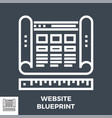 website blueprint line icon vector image vector image
