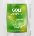 golf party invitation card sport tournament flyer vector image