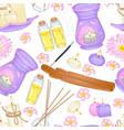 aromatherapy pattern vector image