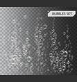 bubbles under water vector image