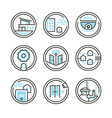 Set of Residential Security Icons vector image