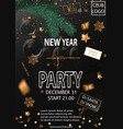2019 happy new year party background for your vector image vector image