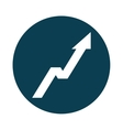 arrow up statistics icon vector image vector image