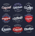 big set california vintage brooklyn denim vector image vector image