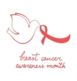 Breast cancer awareness month card vector image vector image