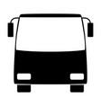 bus the black color icon vector image vector image