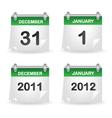 calendar green vector image