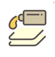 car waxing and cloth icon design 48x48 pixel vector image