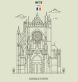 cathedral of st stephen in metz vector image vector image