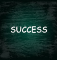 charcoal success background vector image vector image