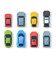 city transport top view flat set vector image