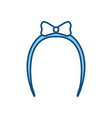 claw hair clip vector image vector image
