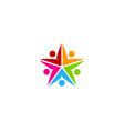 color star logo icon design vector image