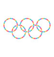 colorful olympic circles icon people round vector image