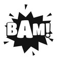 comic boom bam icon simple black style vector image vector image