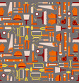 construction tools seamless pattern work vector image vector image