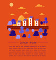 cozy town modern flat design vector image vector image